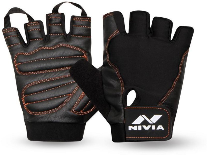 Nivia Cobra Gym & Fitness Gloves (M, Black)