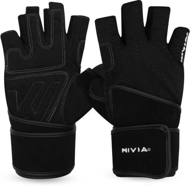 Nivia Sniper Sports Climbing Gloves (XL, Black)