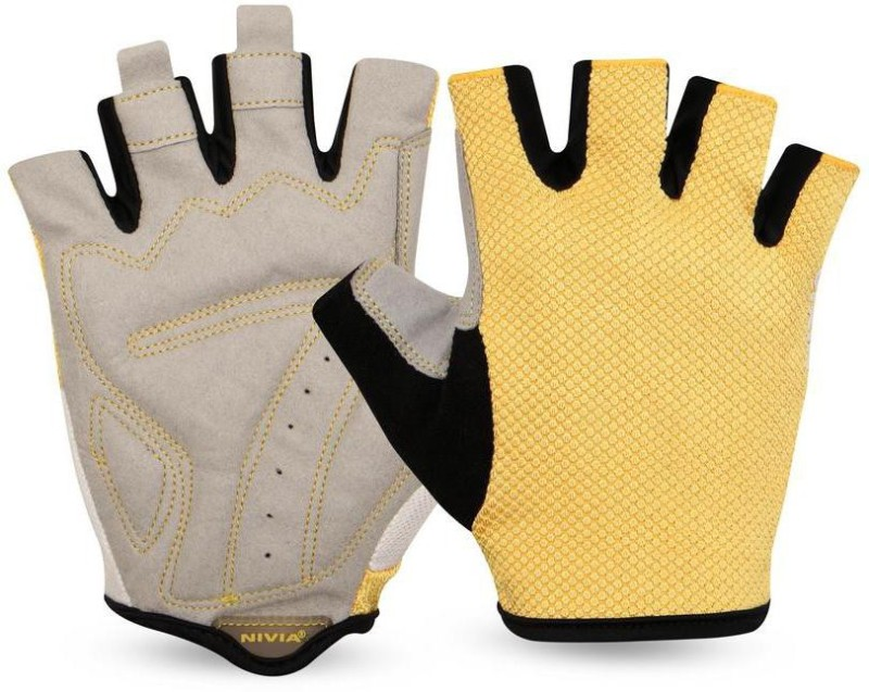 Nivia Sniper Sports Gym & Fitness Gloves (XL, Yellow)