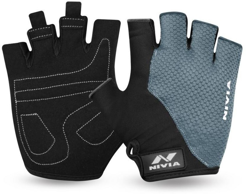 Nivia Coral Gym & Fitness Gloves (M, Black, Grey)
