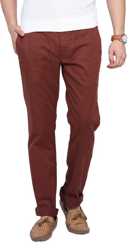 Levis Slim Fit Men Maroon Trousers