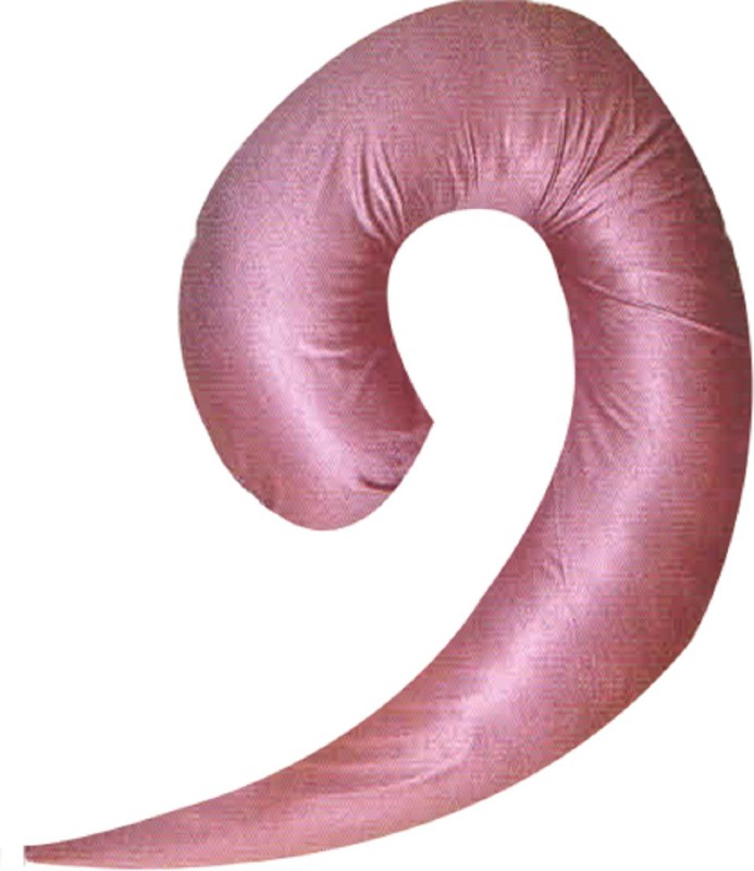 Comfort Pillow Foam Solid Pregnancy Pillow Pack of 1(Pink)