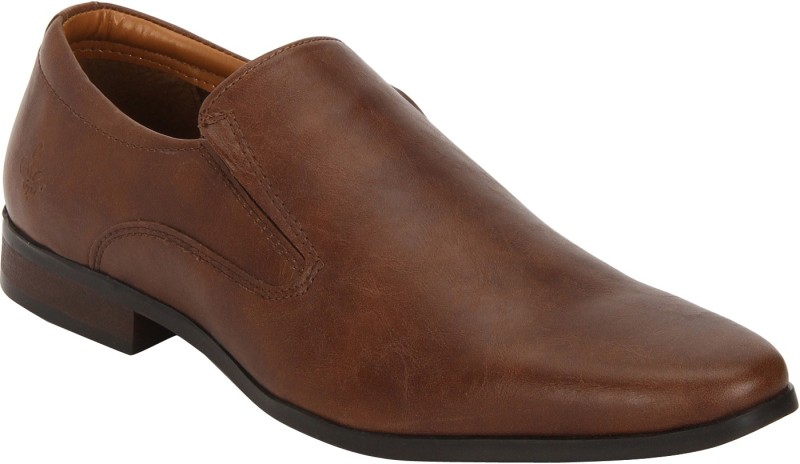 Bond Street By Red Tape Men Formal Dress Slip On For Men(Tan)