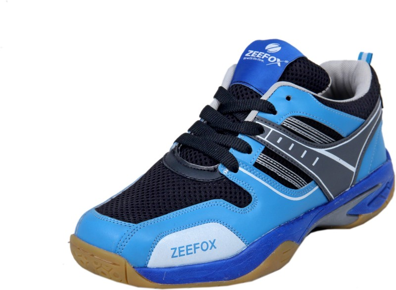 Zeefox Badminton Shoes For Men(Blue, Black)