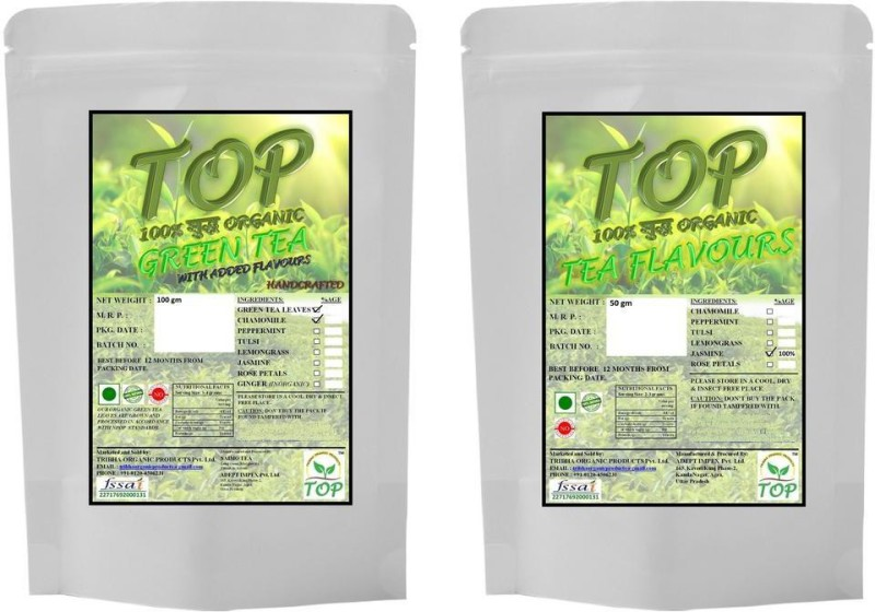 TOP Organic Jasmine Green Tea with Organic Jasmine Tea (150 gms) Herbal Tea(150 g, Vacuum Pack)