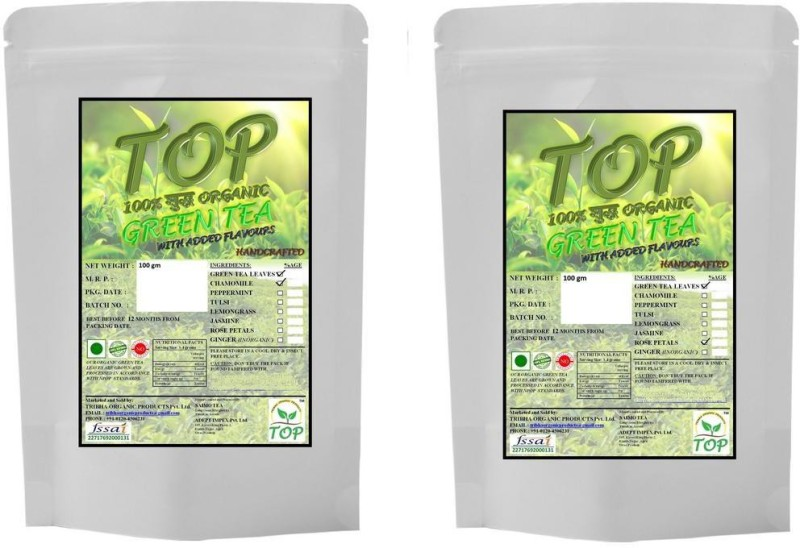 TOP Organic Rose Green Tea with Organic Jasmine Green Tea (200 gms) Herbal Tea(200 g, Vacuum Pack)