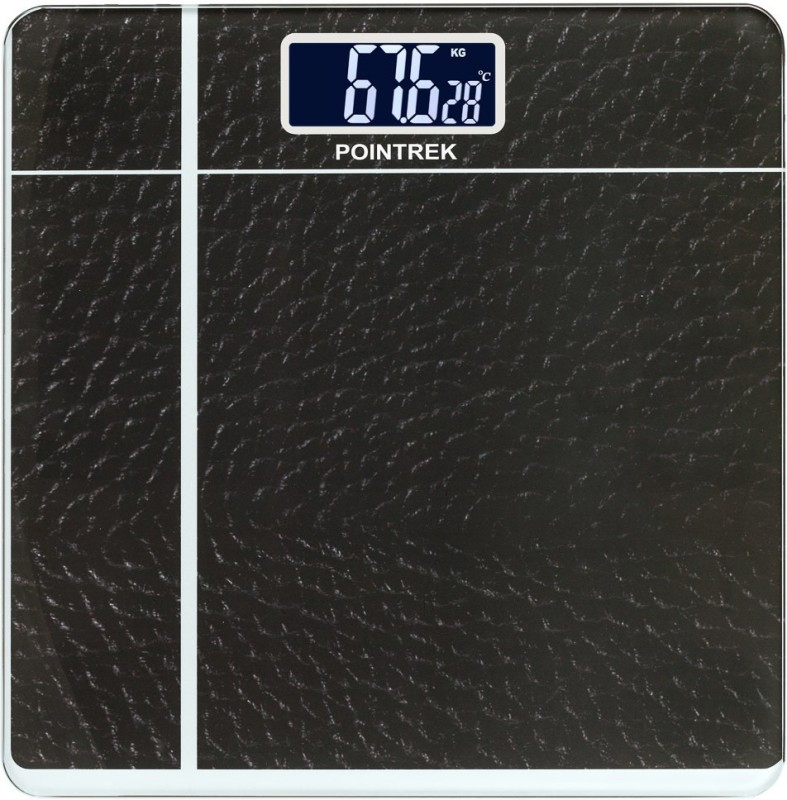 POINTREK DIGITAL ELECTRONIC LCD PERSONAL HEALTH BODY CHECKUP FITNESS Weighing Scale(Grey)