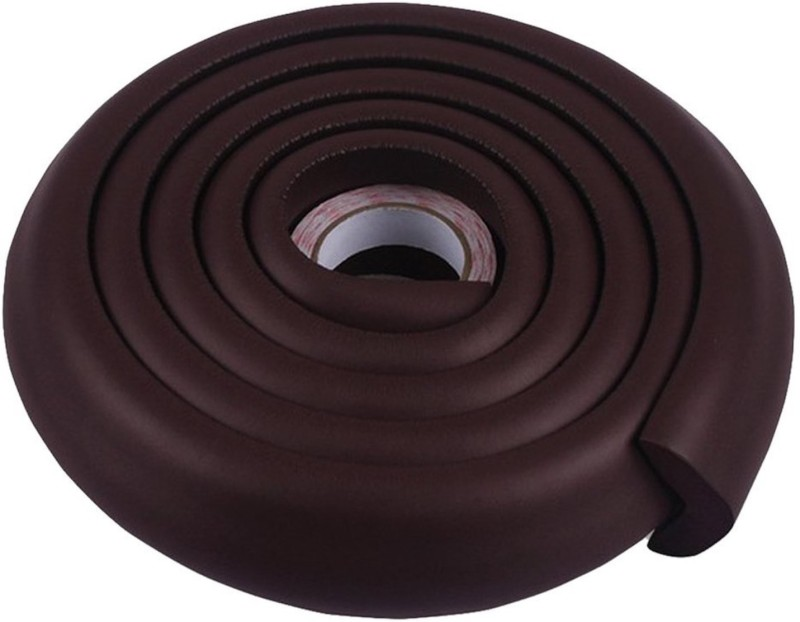 babycorner 1 Piece 200CM Child Baby Safety Products Glass table Edge Furniture Guard Strip, Corner foam Bumper Collision Protector (Colour: Brown) 1 Piece(Brown)