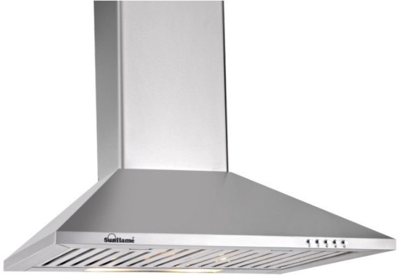 Sunflame eva Wall and Ceiling Mounted Chimney(silver 700 CMH)