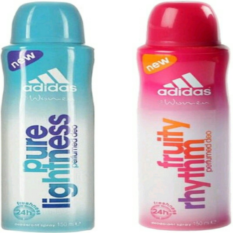 ADIDAS pure lightness,fruty rhythm Deodorant Spray - For Women(150 ml, Pack of 2)