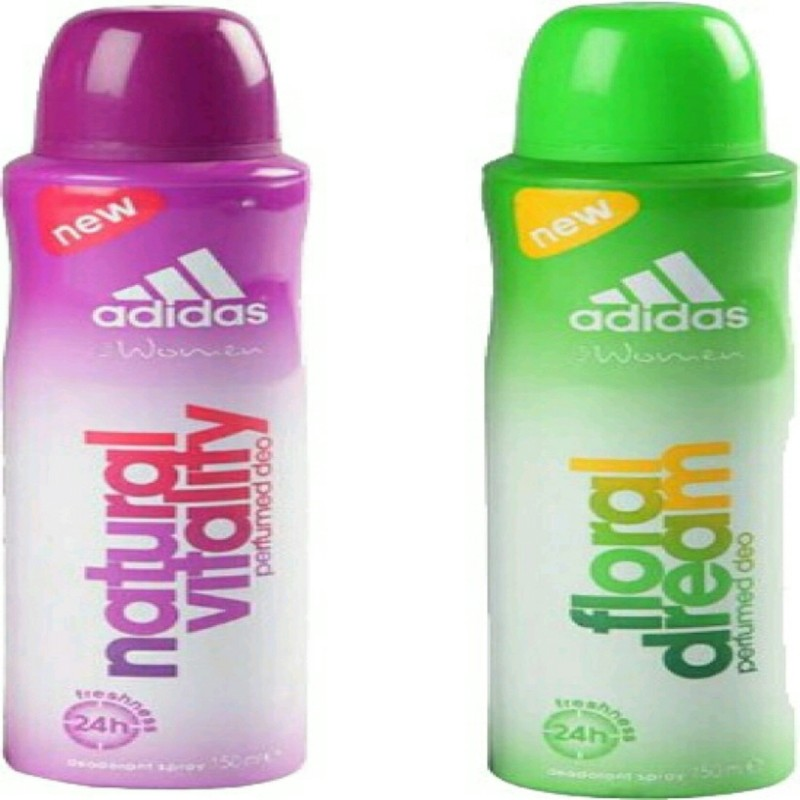 ADIDAS natural vitality,flora dream Deodorant Spray - For Women(150 ml, Pack of 2)