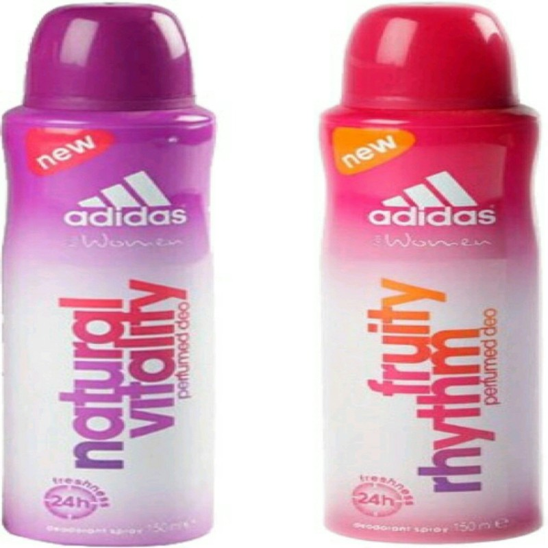 ADIDAS natural vitality,fruty rhythm Deodorant Spray - For Women(150 ml, Pack of 2)