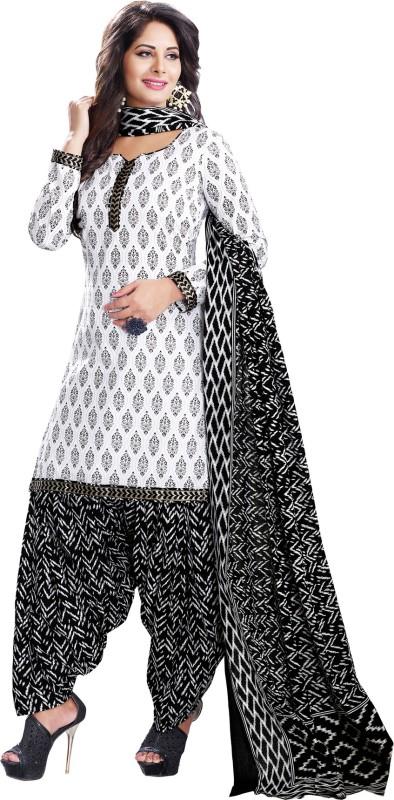 Salwar Studio Cotton Floral Print, Chevron, Printed Salwar Suit Dupatta Material(Un-stitched)