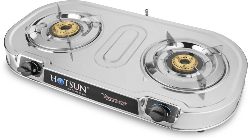 HOTSUN CLUB 2 DELUXE BRASS BURNER Stainless Steel Manual Gas Stove(2 Burners)