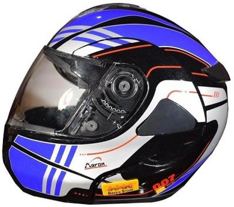 Greenstone DETACHABLE HYBRID BLUETOOTH HELMET Motorsports Helmet(Blue)