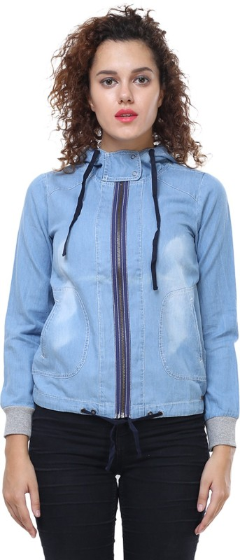 MansiCollections Full Sleeve Solid Womens Denim Jacket