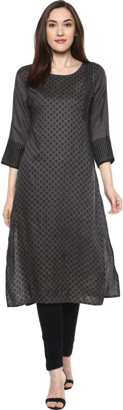 Krapal Casual Printed Women Kurti(Grey)