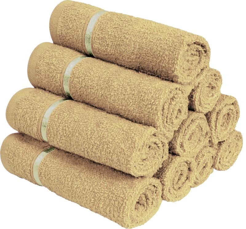 Story@Home 10 Piece Cotton Bath Linen Set(Brown, Pack of 10)
