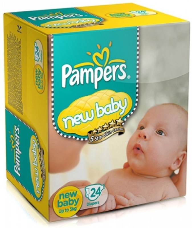Pampers Pampers - New Baby Diaper New Born - 24 Pieces - S(24 Pieces)