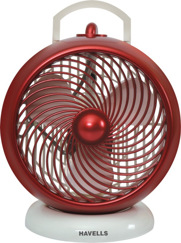 Havells 175 MM I-Cool 3 Blade Table Fan(White maroon)