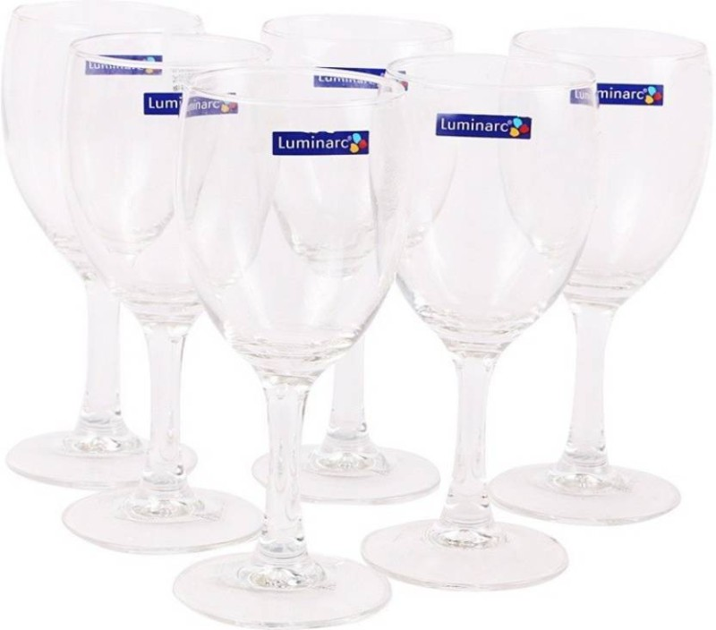 LUMINARC Glass Set(190 ml, Clear, Pack of 6)