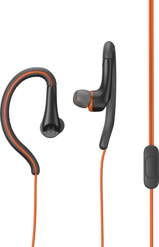 Motorola Earbuds Active Wired Headset(Orange, Wireless in the ear)