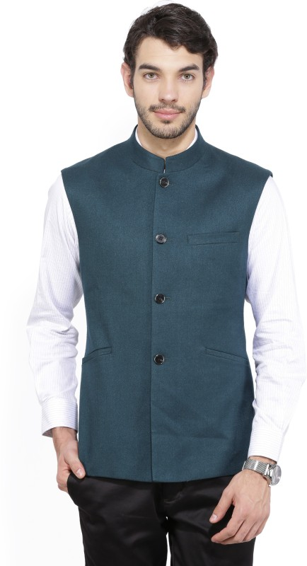 Park Avenue Sleeveless Solid Men's Jacket