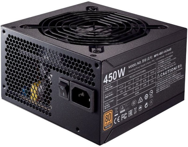Cooler Master MPW-4502-ACABW-IN 450 Watts PSU(Black)