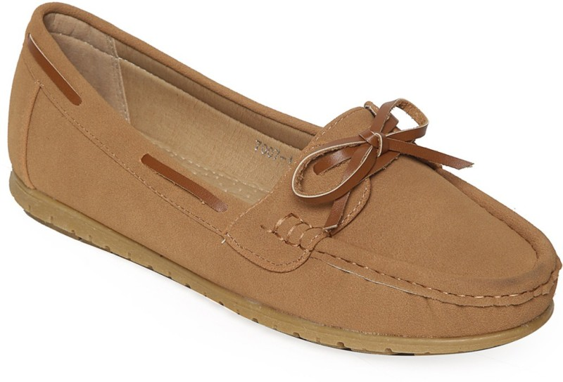 Flat n Heels Loafers For Women(Tan)