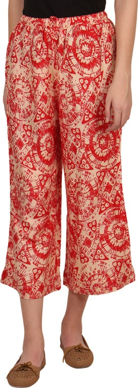 Mother Home Regular Fit Women's Red Trousers