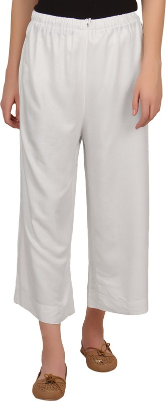 Mother Home Regular Fit Women's White Trousers