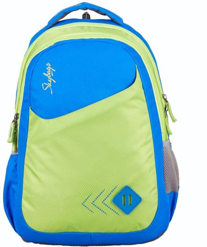 Skybags Footloose Leo 4 School Bag 25 L Backpack(Blue, Green)