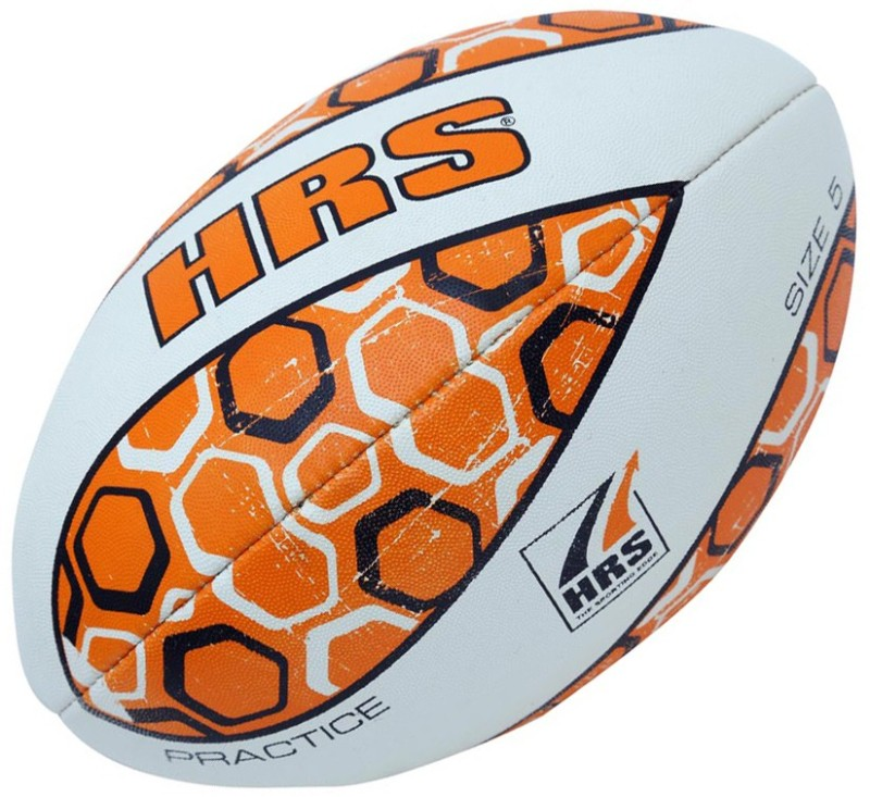 HRS Practice Rugby Ball - Size: 5(Pack of 1, Multicolor)