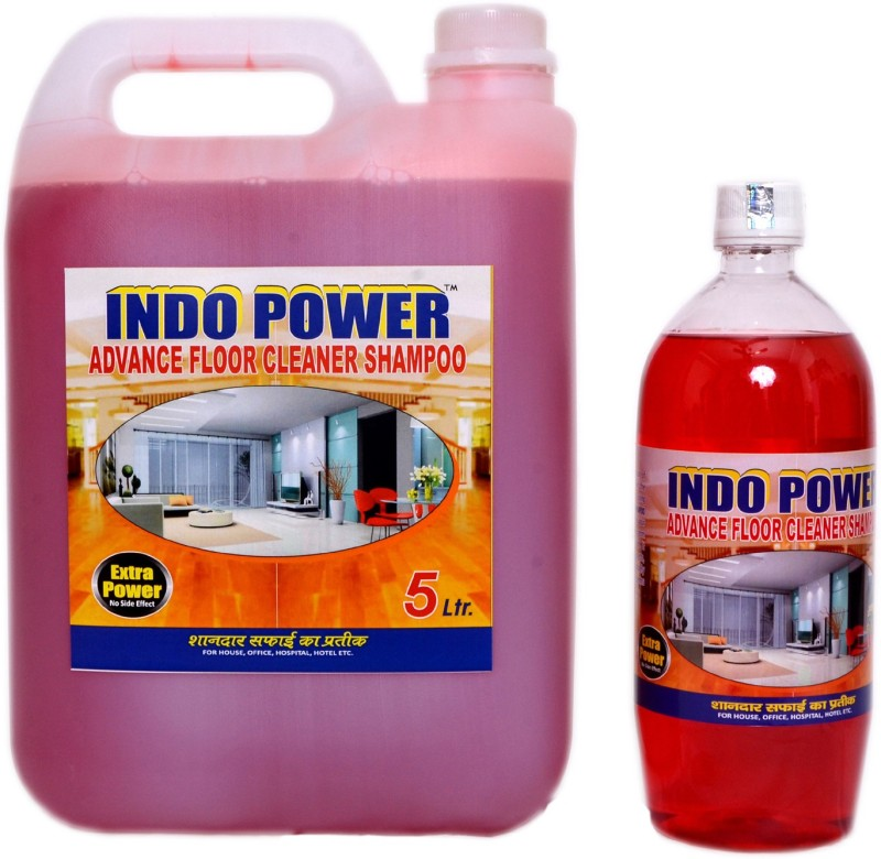 INDOPOWER ADVANCE FLOOR SHAMPOO COMBO OFFER 5 ltr+ 1 ltr. ROSE(6 L, Pack of 2)