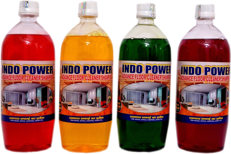 INDOPOWER COMBO PACK ADVANCE FLOOR SHAMPOO 4 ltr. Multi(4000 ml, Pack of 4)