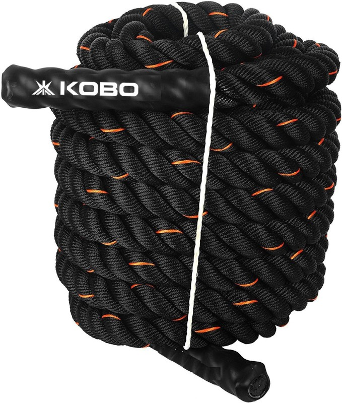 Kobo Kobo CTA-01 Black� Battle Rope(Length: 49 ft, Weight: 10 kg, Thickness: 1.5 inch)