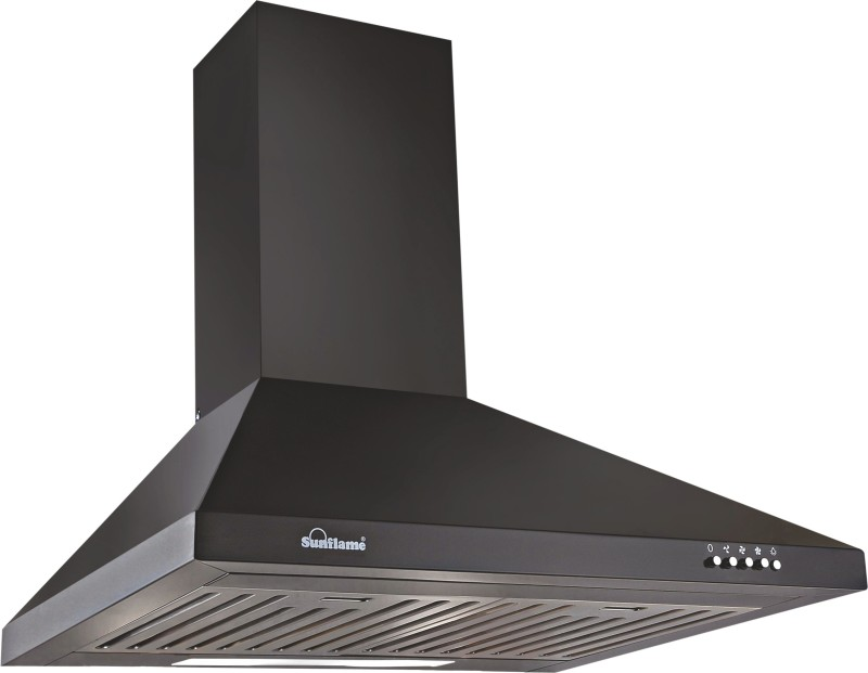 Sunflame FUSION BK 60 Ceiling Mounted Chimney(BLACK 750)