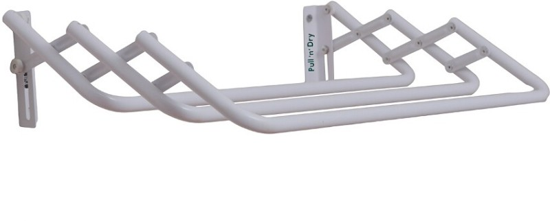 Pull n Dry Pull N Dry Aluminium Crisscross 3 Ft Clothes Dryer Aluminium Wall Cloth Dryer Stand(White)
