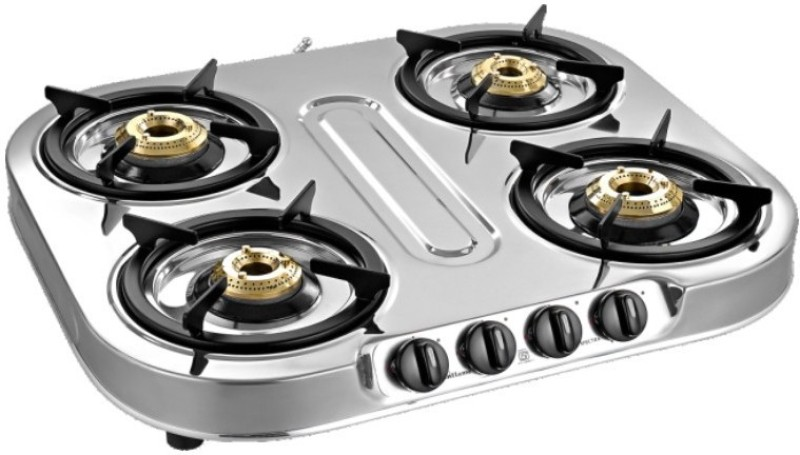 Sunflame Steel Manual Gas Stove(4 Burners)