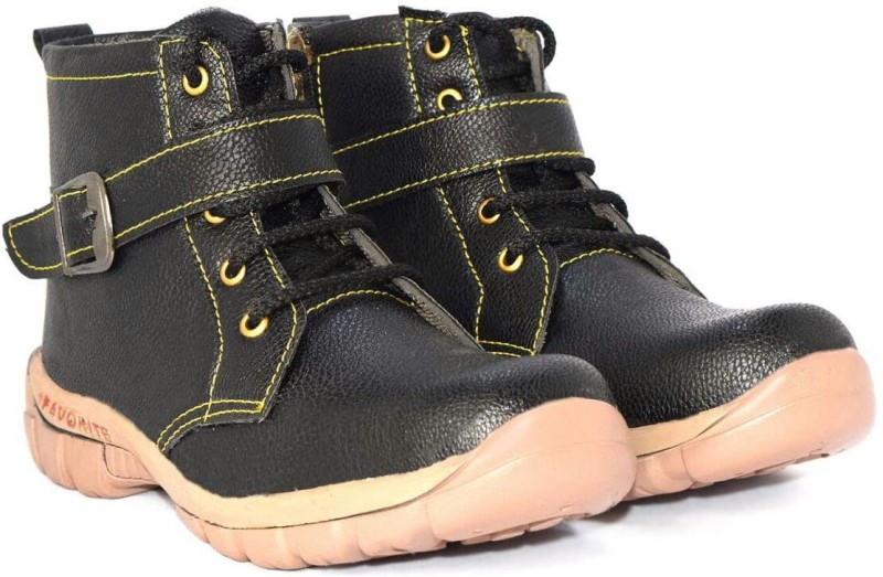 Hiker Boys Lace Casual Boots(Black)