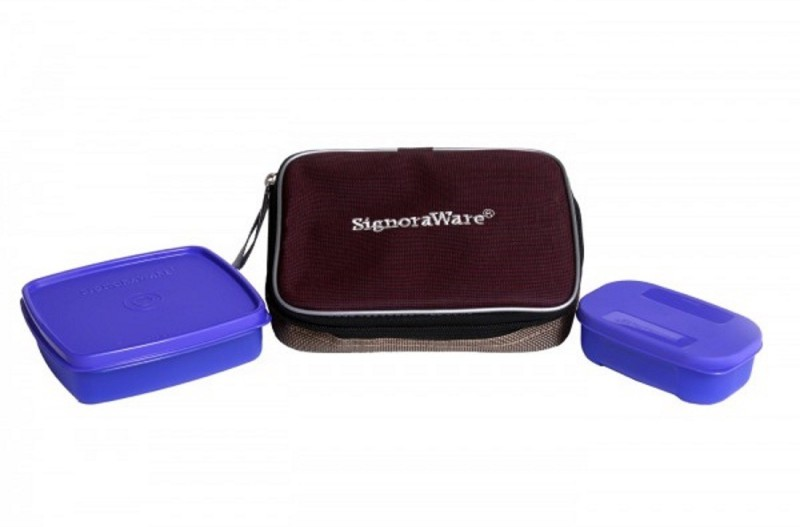 Signoraware Twin Smart Lunch Box (With Bag) 2 Containers Lunch Box(250 ml)