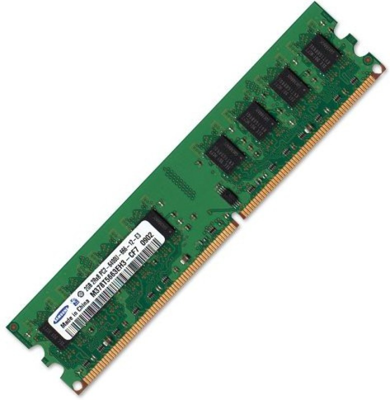 Samsung 6400u DDR2 2 GB (Single Channel) PC 2 gb ddr 2 (m378t5663eh3)(Green)