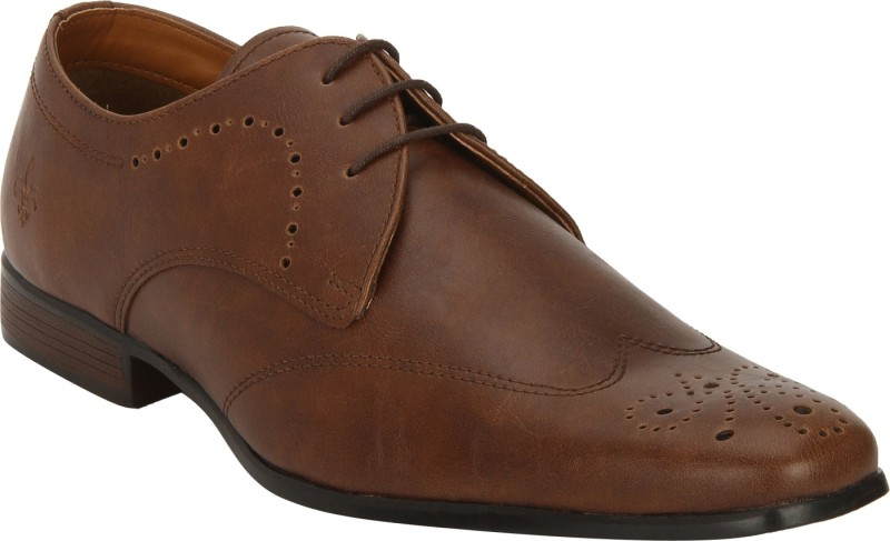 Bond Street By Red Tape Men Brogues Lace Up For Men(Tan)