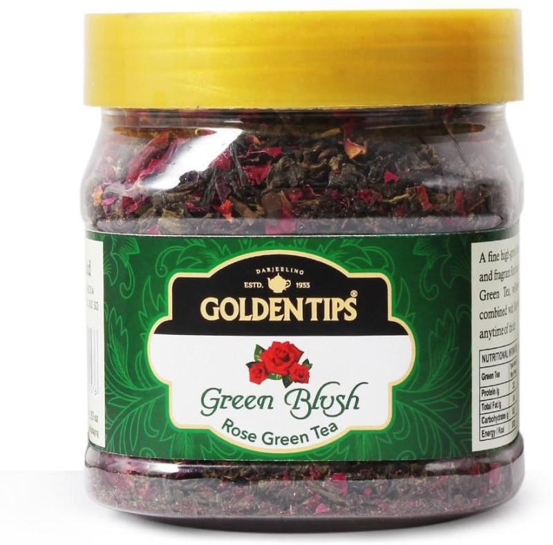 Golden Tips Green Blush Rose Petals Rose Green Tea(25 g, Box)