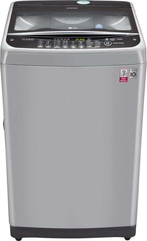LG 8 kg Fully Automatic Top Load Washing Machine Silver(T9077NEDL1)