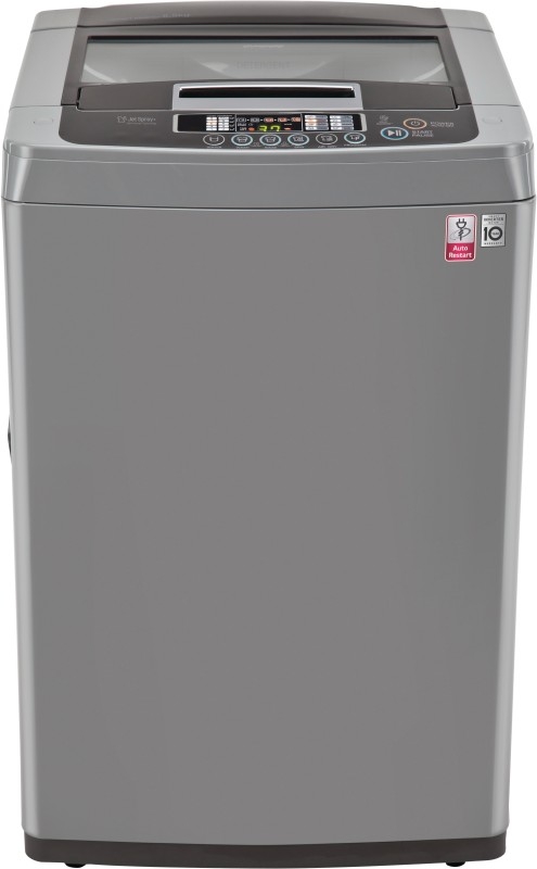 LG 6.5 kg Fully Automatic Top Load Washing Machine Silver(T7567NEDLH)