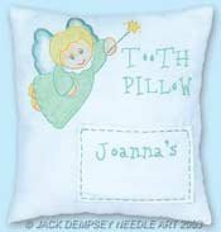 Jack Dempsey Stamped Tooth Fairy Pillow Cover 8X8-Tooth Fairy