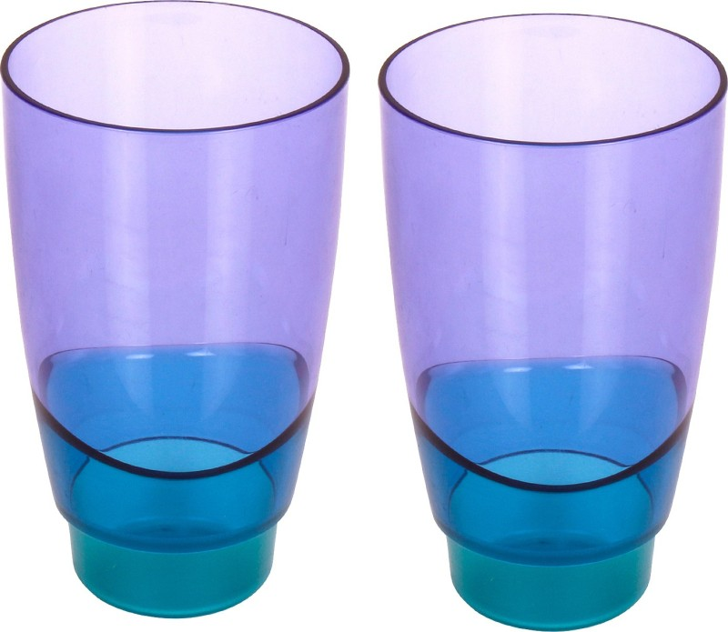 Tupperware Glass Set(475 ml, Blue, Pack of 2)