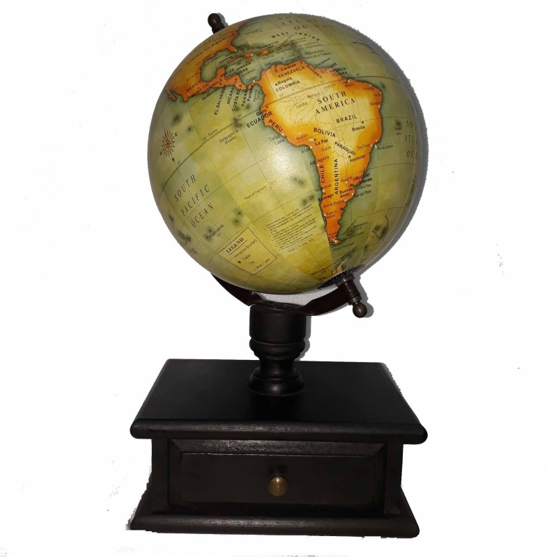 mh Wooden base World Globe Educational World Globe(38 Black Base)