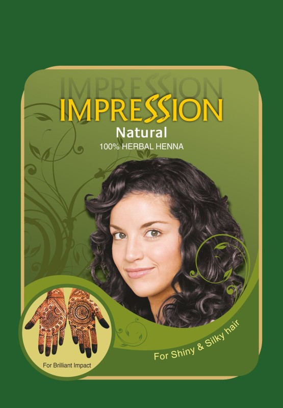 impression 100% Pure Triple Filtered Herbal Henna Powder And Indigo Powder Combo Pack 150g & 100g Each(250 g)
